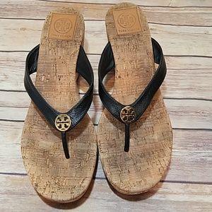 Tory Burch Suzy cork wedge thong sandals